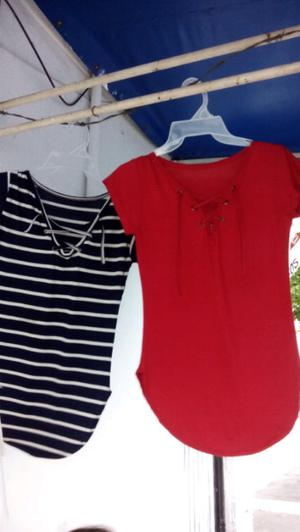 Bluson azul marino con rayas blancas blusón rojo