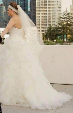 Hermoso vestido de novia usado