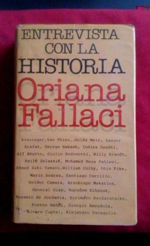 Libro Entrevista con la Historia de Oriana Fallaci