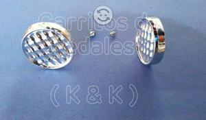 Carrito de pedales / Faros de plastico cromados