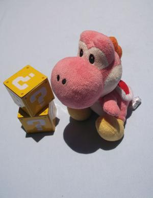 Peluche Yoshi Original De 17 Cm Super Mario Bros. Color Rosa