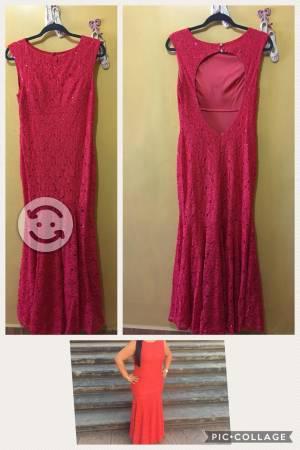 Vestido Largo Rojo $500
