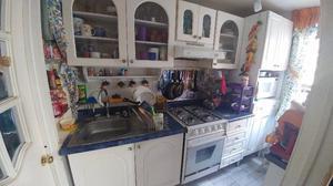 Cocina integral modular blanca completa con estufa posot for Cocina integral con estufa