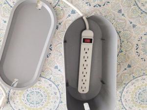 Caja De Gestión De Cables Con Tapa Gris Ikea