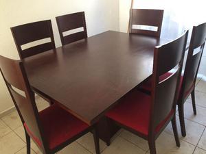 Comedor chocolate 6 sillas triangular de sears posot class for Comedor triangular