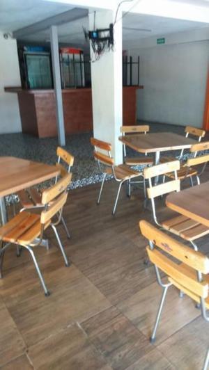 Juego de Sillas y Mesas para bar o restaurante