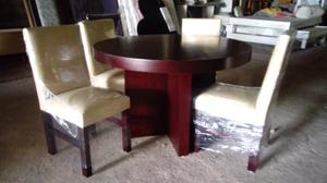 Vendo comedor de 4 sillas barato es redondo posot class for Comedor redondo de madera 4 sillas