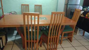 comedor de 6 sillas bonito bueno y barato