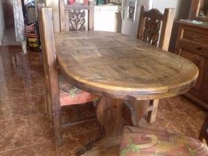 comedor rustico con 6 sillas