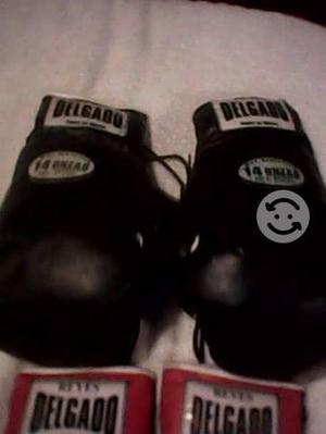 Par de guantes de box marca delgado de 12 onzas