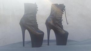 Botas piel plataforma