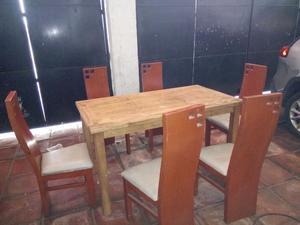 Comedor 6 sillas mesa nueva