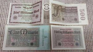 Lote de 53 billetes alemanes antiguos