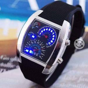 Reloj tipo Velocimentro aviador LED