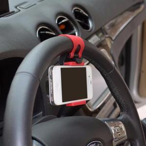 Soporte Universal De Teléfono o GPS Para Volante De Coche