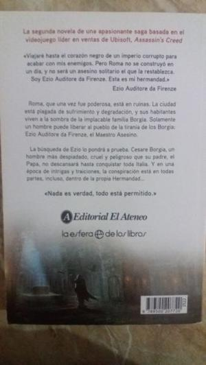 Libro assassins Creed la hermandad