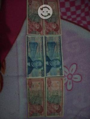 6 billetes antiguos