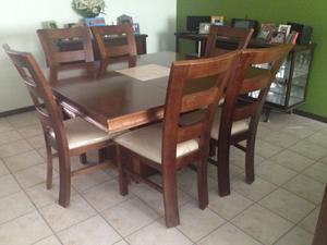 Comedor cuadrado con 6 sillas