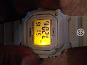 Reloj CASIO F-108WH BLANCO ORIGINAL LUZ AMARILLA