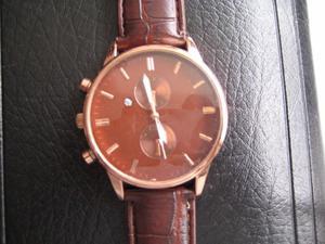 Reloj Cronografo Fechador con Piel