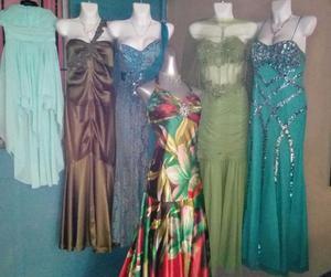 Remato lote de vestidos de fiesta