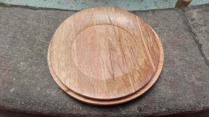 Juego de platos de madera vintage
