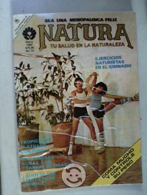 Lote de 4 revistas natura de editorial posada