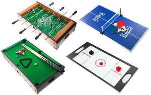 Mesa De Juegos 4 En1 Billar Futbolito Ping Pong Hockey J