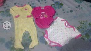 Lote de ropa de invierno para beba de 0-6 meses