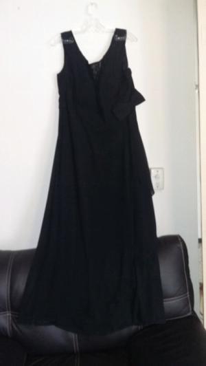 vestido de fiesta color negro talla 20