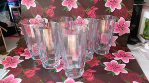 6 Vasos de vidrio grueso