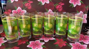 6 vasos de vidrio