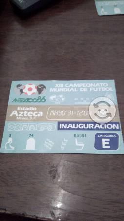Boleto de la inauguracion del mundial mexico 86