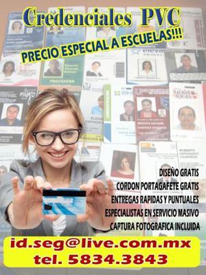 Credenciales PVC para escuelas