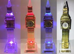 Reloj Torre Big Ben London Luz Led Cristal