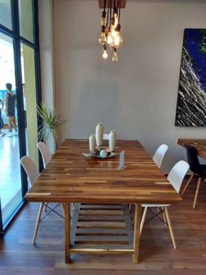 Mesa artesanal madera de parota