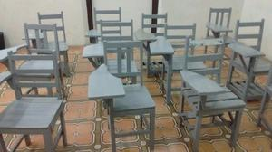 Excelente sillas con paleta para escuela posot class for Sillas para zurdos