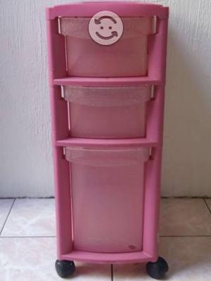 Cajonera multiusos mediana plástico rosa