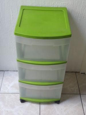 Cajonera multiusos mediana plástico verde Sterilite