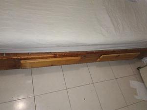 Cama matrimonial de madera incluye colchon posot class for Colchon y cama matrimonial