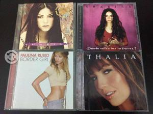 Paulina rubio / shakira / thalia / 4 cd