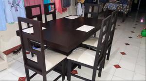 comedor de 6 sillas economico nuevo de madera no Carton