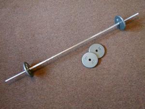 Barra sólida para pesas con 4 discos