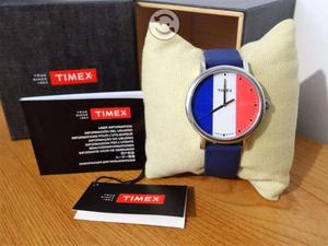 Reloj timex nuevo,francia,cristal mineral,luz,broc