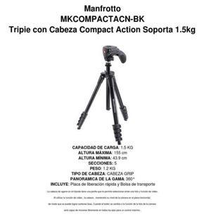 Tripie Manfrotto MKCOMPACTACN-BK