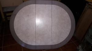 mesa ovalada