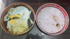 2 charolas de coca cola y corona