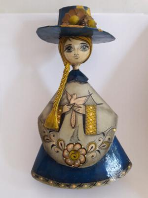 Muñeca d carton papel de Tonala Jalisco