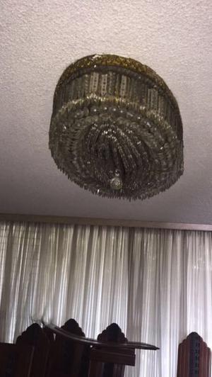 Excelente lámpara para comedor de cristal importado