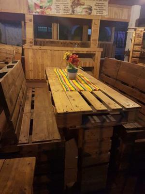 Juego de jardin muebles para exterior mesa banca posot class for Vendo muebles jardin